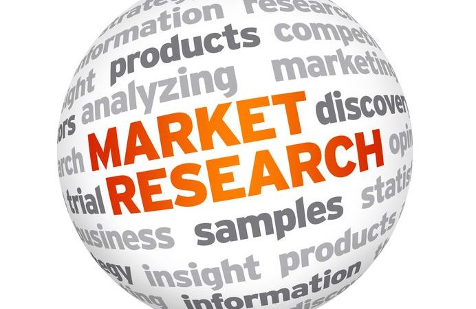 13779211 - 3d market research word sphere on white background.